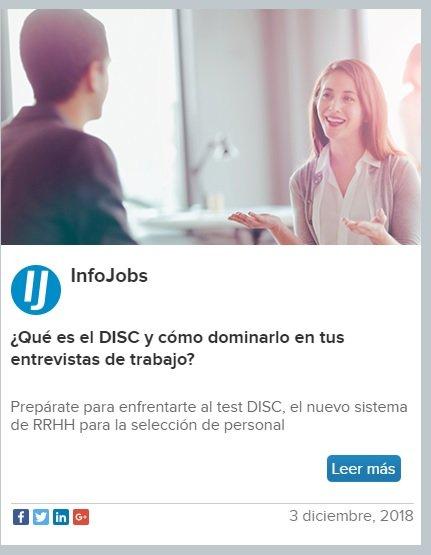 Ejemplo de Marketing de Contenidos, InfoJobs.