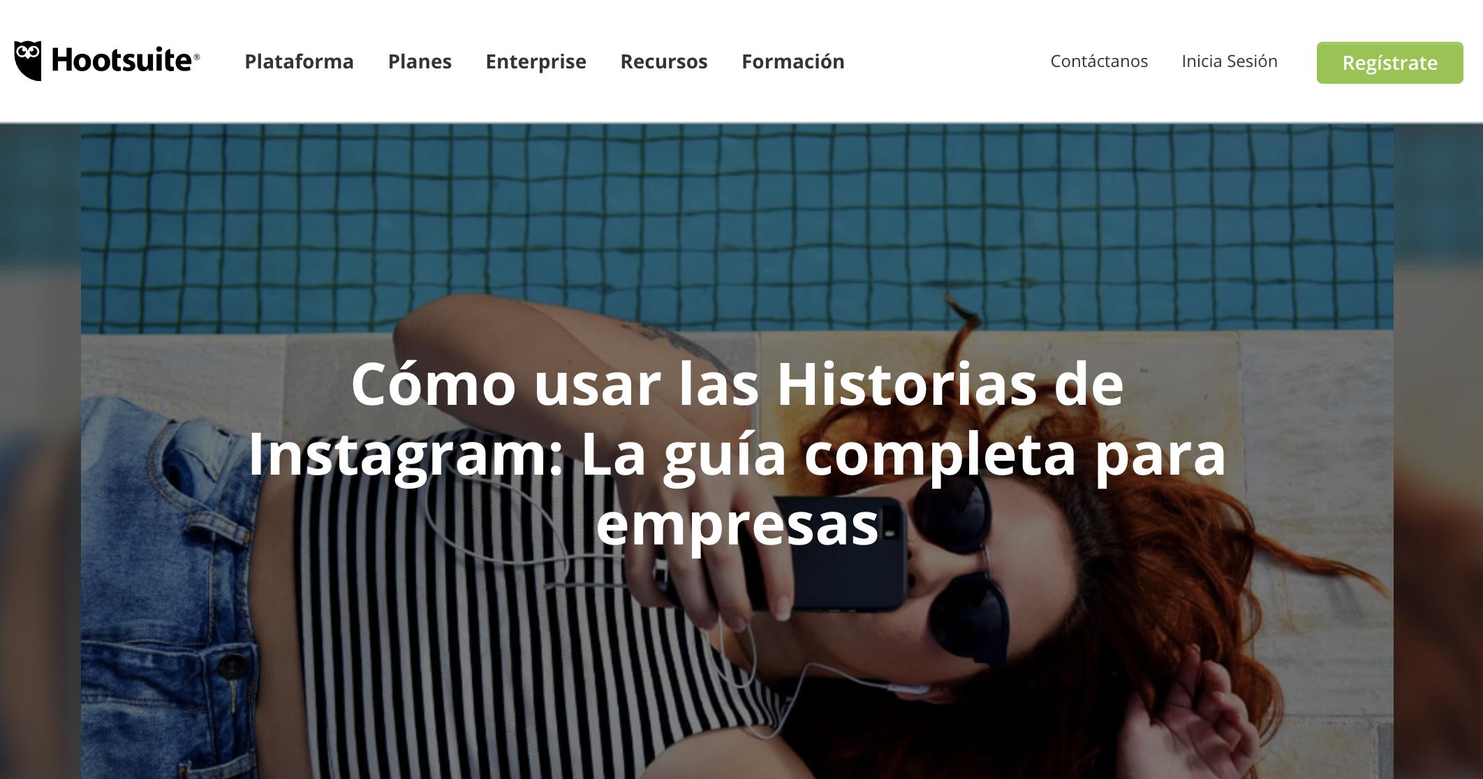 Ejemplo de contenido de valor - Via Hootsuite en Espanñol
