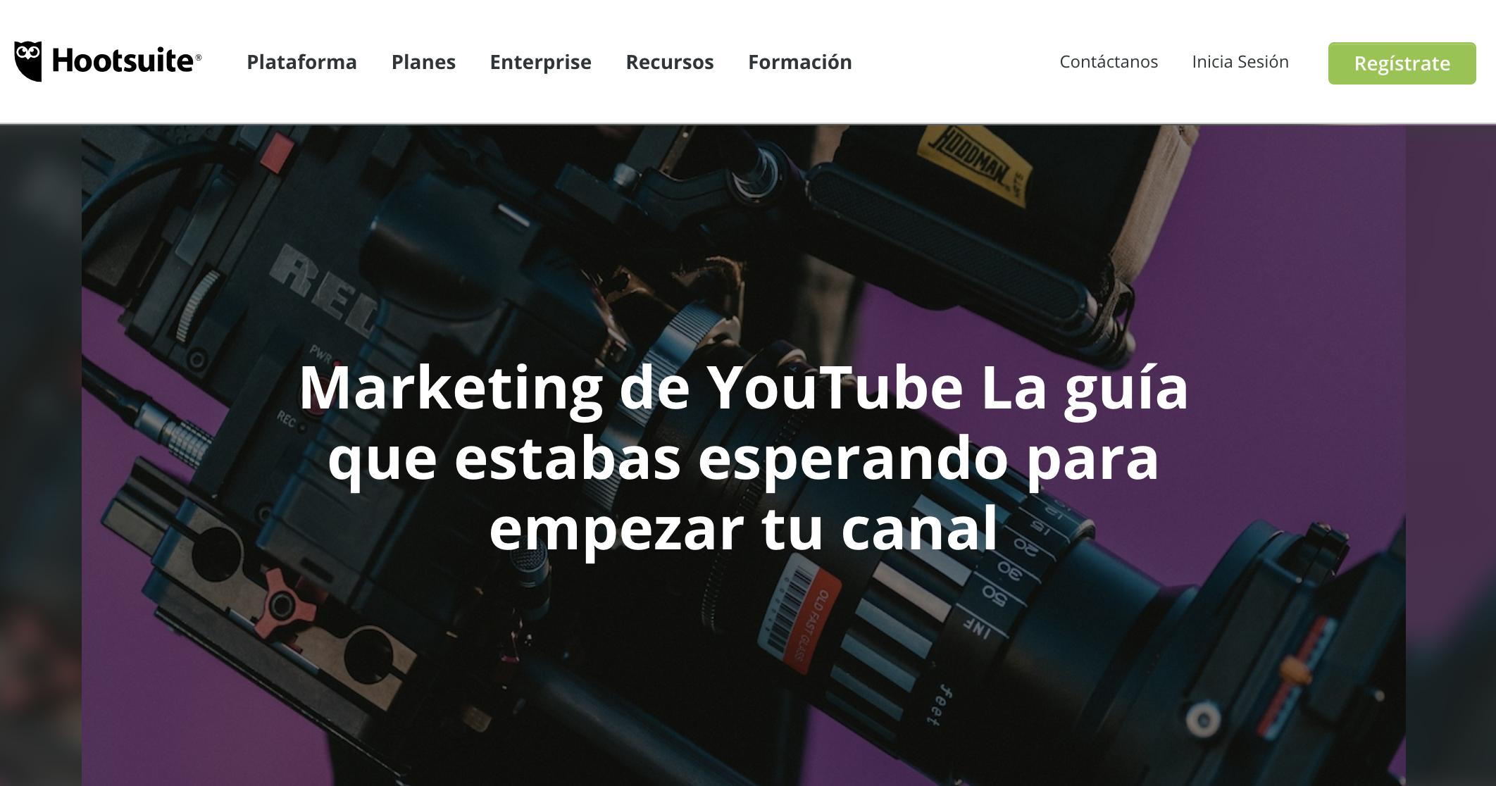 Ejemplo de contenido educativo - Via Hootsuite en Espanñol